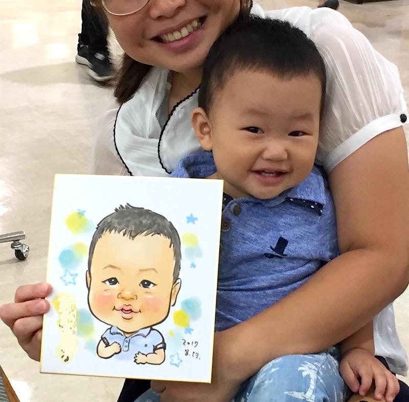 子供の写真を撮るのは難しい(8月13日の似顔絵イベントレポ)