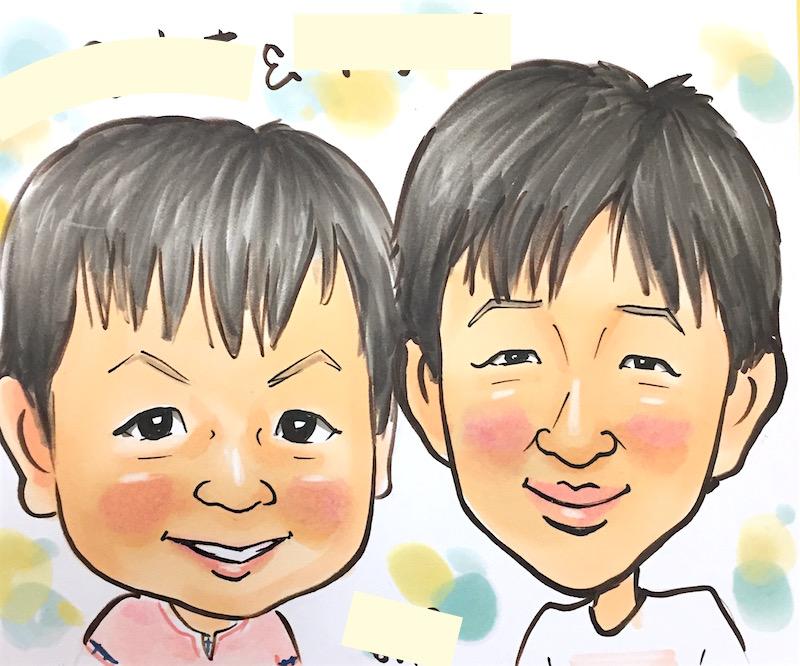 小色紙カラーの似顔絵イベントサンプル